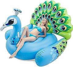 JOYIN Inflatable Peacock Pool Float, Fun Beach Floaties, Swim Party Toys, Pool Island, Summer Pool Raft Lounge for Adults & Kids