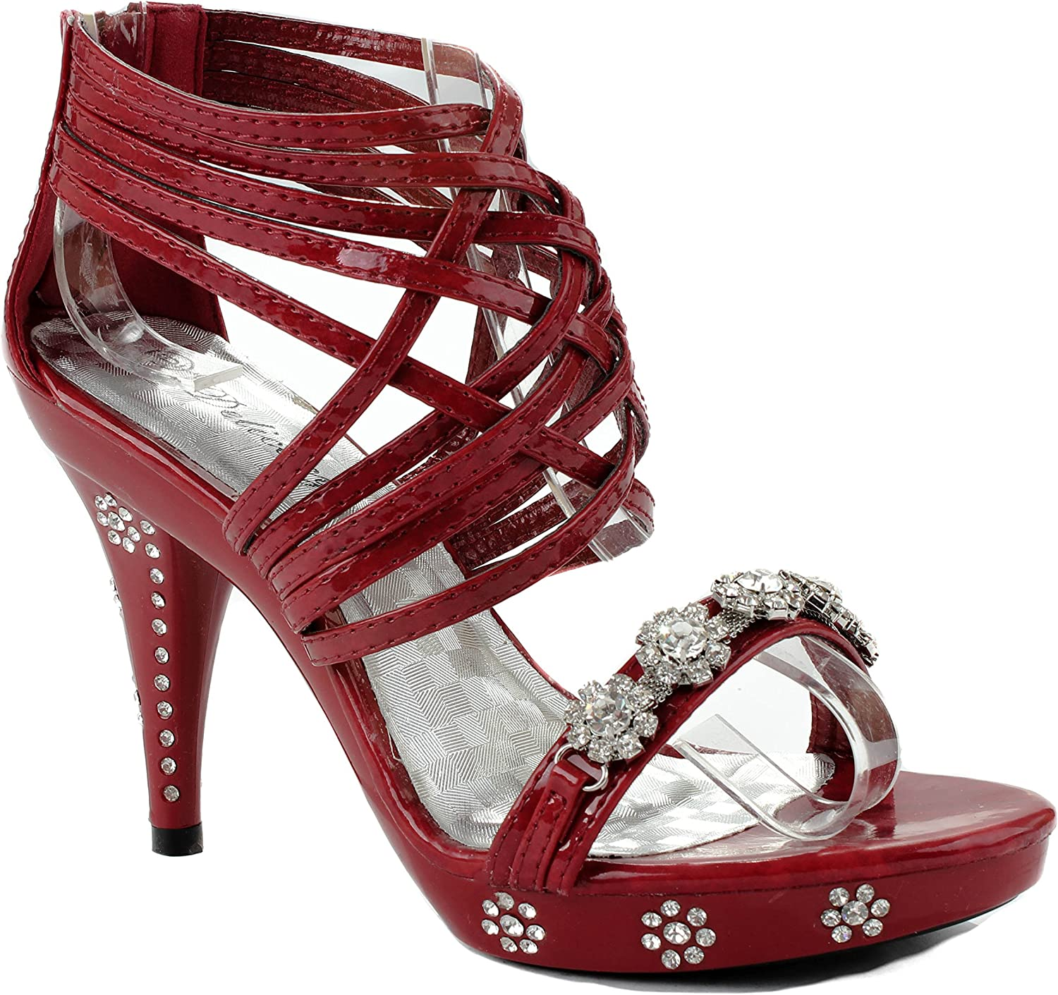 Delicacy Womens Teresa-27 Red Party shoes 8 D(M) US