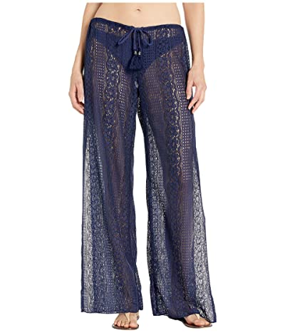 BECCA by Rebecca Virtue Poetic Sheer Lace Pants Cover-Up (Navy) Women