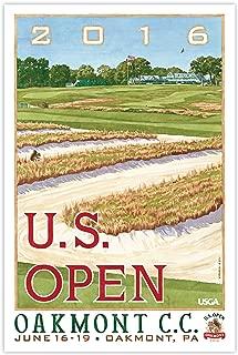 2016 U.S. Open Oakmont Mini-Poster