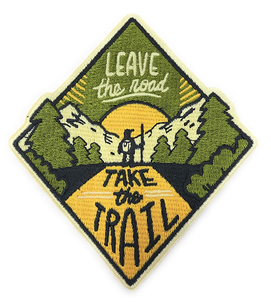 O'Houlihans - Leave The Road Take The Trail Iron on Patch - Adventure Patch, Camper Patch, Camping Patch - Perfect Patch for Backpacks, Hats, Jackets