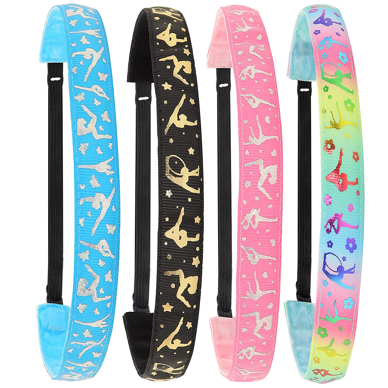 FROG SAC 4 Adjustable Gymnastics Headbands Non Girls Popular brand Max 89% OFF S for Slip
