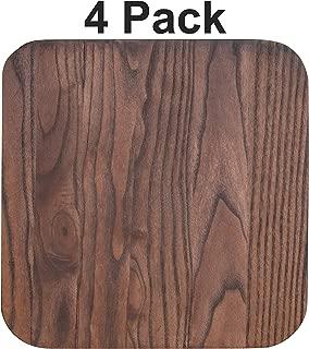 Flash Furniture 4 Pk. Rustic Walnut Wood Seat for Colorful Metal Barstools