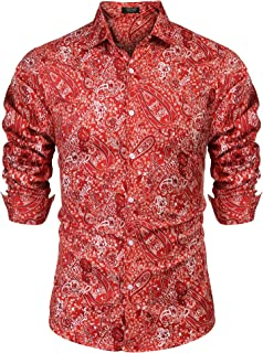 mens red bandana shirt