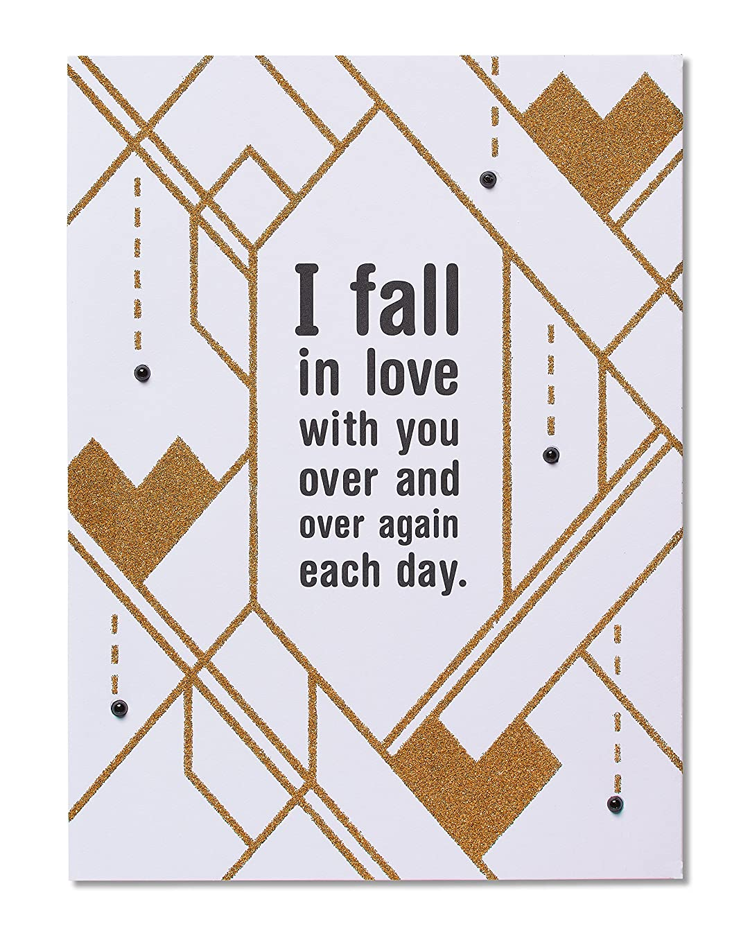 American Greetings Funny Exhausted Romantic Card with Glitter - 5856795