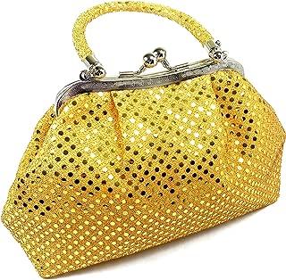 Handbag FabCloud Eve Metallic Orange Dot by WiseGloves tote evening bag purse clutch