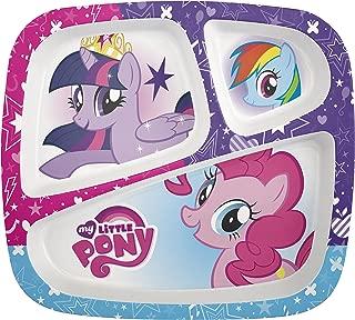 Zak Designs My Little Pony 3-section Kids Plate, TV Series