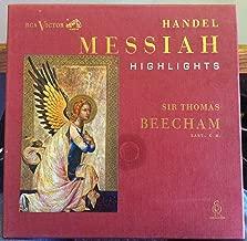 Favorite Music from Handel's Messiah. Sir Thomas Beecham. Royal Philharmonic Orchestra and Chorus. Vinyl Record