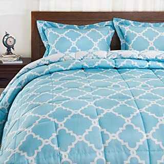 Basic Beyond Down Alternative Comforter Set (Queen, Teal) - Reversible Bed Comforter with 2 Pillow Shams for All Seasons