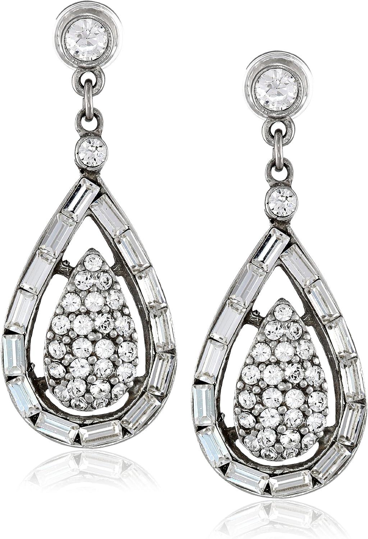 Ben-Amun Jewelry Max 83% OFF Clear Financial sales sale Drop Crystal Earrings