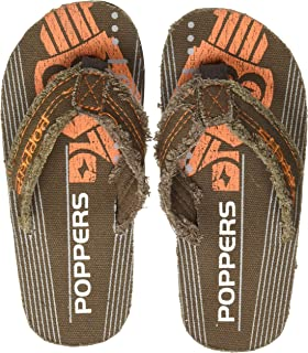 Poppers by Pantaloons Boy's Brown Slippers-1.5 Kids UK (34 EU) (880001003)