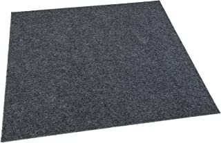 IncStores Hobnail and Ribbed Carpet Tiles Residential Flooring Self Adhering 18