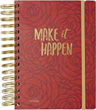 """Fitlosophy J46-20280 'Make it Happen' 3-in-1 Spiral lined, Blank, and Dot Grid Notebook, 6 ¼"""" x 8 5/16"""""""