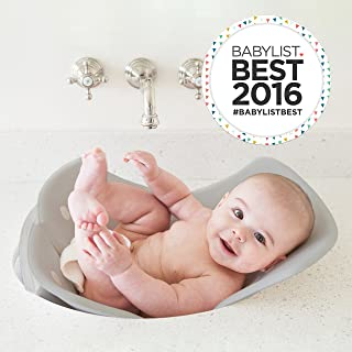 Puj Tub - The Soft, Foldable Baby Bathtub - Newborn, Infant, 0-6 Months, in-Sink Baby Bathtub, BPA Free, PVC Free (Grey)