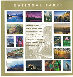 National Parks USPS Forever Stamps Sheet of 16 Postage Stamps 2016