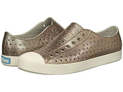 Native Shoes Jefferson Bling (Metal Bling/Shell White) Slip on Shoes