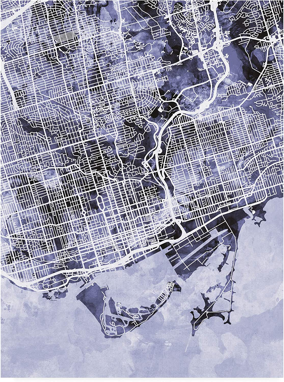Trademark Fine Store Art Toronto Street Blue Michael 40% OFF Cheap Sale by Tompsett Map
