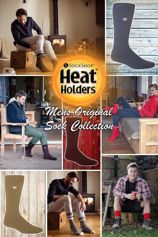Heat Holders Mens Winter Warm Thick Bigfoot Thermal Crew Socks Size 13-15 US