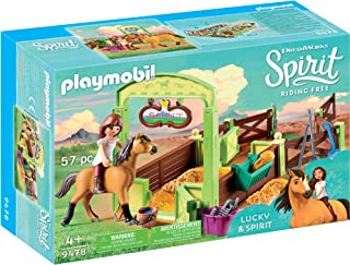 Playmobil Spirit Riding Free Lucky & Spirit with Horse Stall Playset, Multicolor
