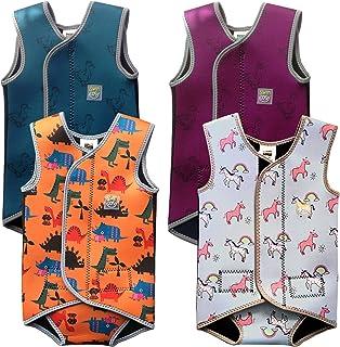 Traje de Neopreno para niños 0-3 años Baby/Toddler Wetsuit Vest with UPF50 - Neoprene Wrap Around Design for Boys/Girls 0-3 Years