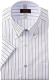 [ヤマキ] ELLE costumes・形態安定加工・半袖・ワイシャツ・カラーバリエーション8柄 GEN602 メンズ