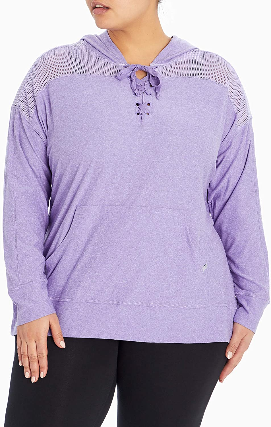Marika Women's Plus Size Riley Lace Up Pullover Hoodie