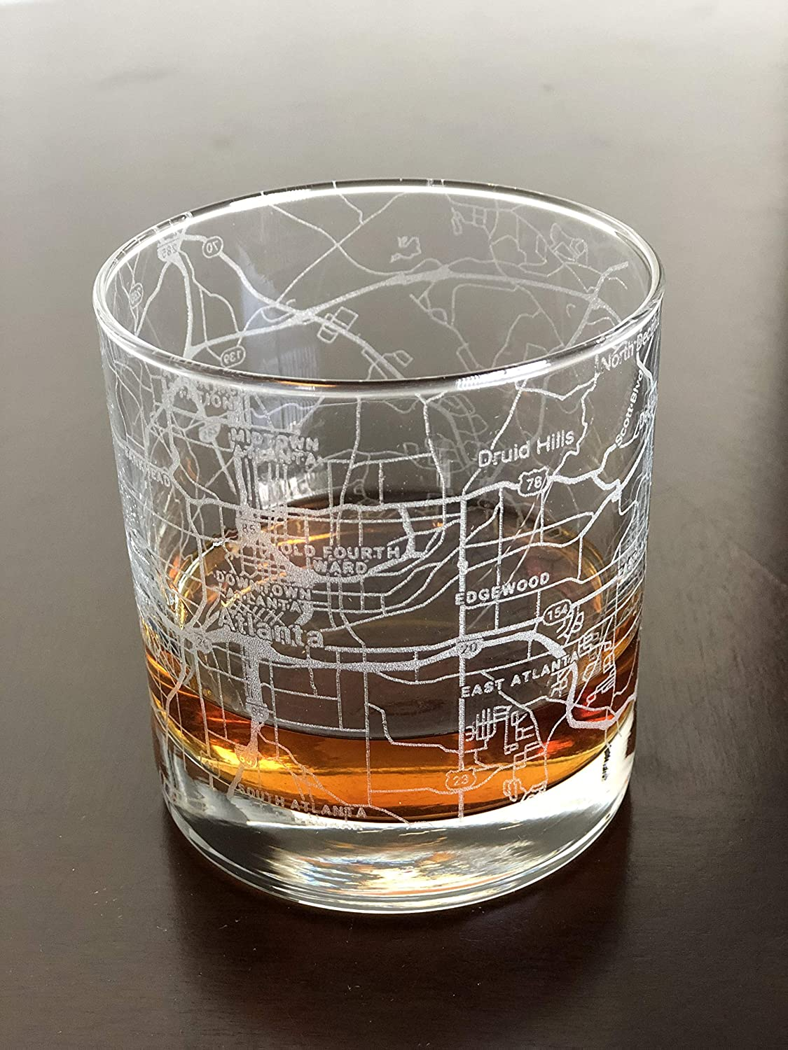 Rocks Whiskey Old Fashioned 11oz Glass Atlanta Map Urban Super 67% OFF of fixed price beauty product restock quality top Ge City