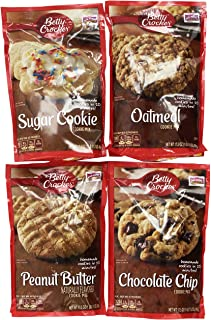 Betty Crocker Cookie Mix Variety Pack of Popular Flavors: (1) Chocolate Chip Cookie Mix + (1) Peanut Butter Cookie Mix + (...