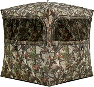 Barronett Grounder Ground Hunting Blind, 3 Person Pop Up Portable, Woodland Camo