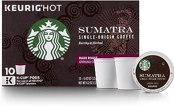 6 Boxes of 10 Starbucks Sumatra Dark Roast Single Cup Coffee