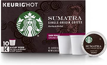 Starbucks Sumatra Dark Roast Single Cup Coffee for Keurig Brewers, 60 Count