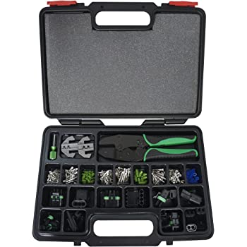 Astro Pneumatic Tool 9478 220-Piece Weather Pack Interchangeable Ratcheting Crimping Tool & Accessory Set