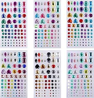Strass Autocollants Adhésif Bijoux Craft Stickers Cristal Bling Jewels pour Visage, Maquillage, Ongles, Embellissements de...