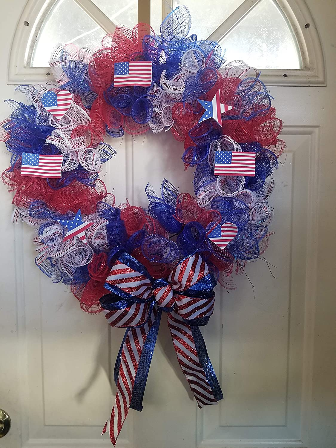 All items free shipping 14 inch mesh patriotic day Inexpensive independence memorial wreath
