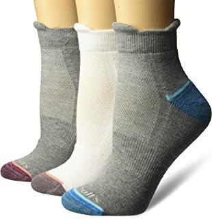 Women's Walking Fitness Double Tab Ankle Socks 3 Pair