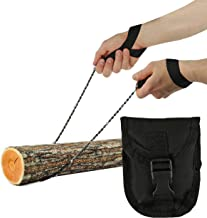 """Pocket Chainsaw - Razor Sharp Self Cleaning 25.5 In Portable Hand Saw Survival Gear with Black Holster for Camping, Hunting, Hiking 