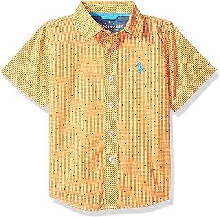 U.S. Polo Assn. Boys' Short Sleeve Plaid Sport Shirt
