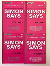 Lot of 4 SIMON SAYS PUZZLES By Penny Press Selected Puzzles Dell