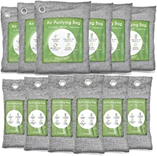 12 Pack Bamboo Charcoal Air Purifying Bag, Activated Charcoal Bags Odor Absorber,..