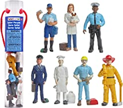 Safari Ltd People TOOB With 7 Everyday Heroes Figurine Toys, Including Construction Worker, Policeman, Mailman, Pilot, Chef, Fireman, and Veterinarian