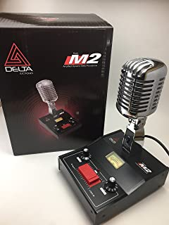 DELTA M2 CHROME AMPLIFIED DYNAMIC POWER BASE MICROPHONE 4 pin Cobra CB HAM MIC