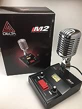 DELTA M2 CHROME AMPLIFIED DYNAMIC POWER BASE MICROPHONE 4 pin Cobra CB HAM MIC