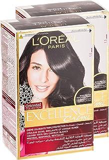 L'Oréal Excellence Crème 1 Black, 192 ml (Pack of 2)