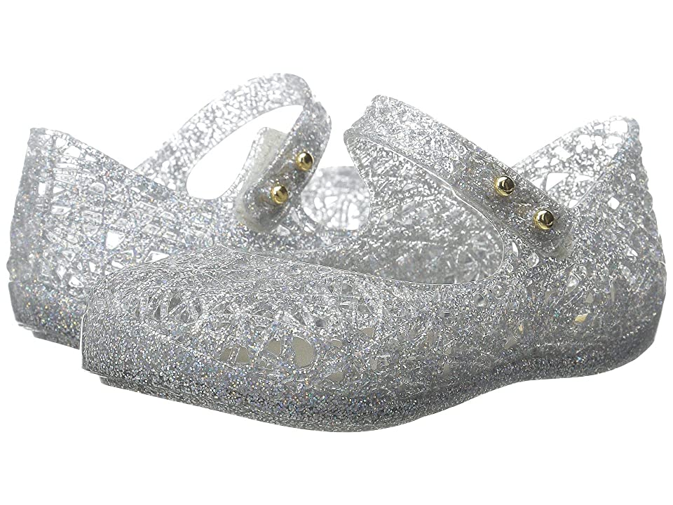 Mini Melissa Mini Campana Zig Zag VI (Toddler) (Mixed Silver Glitter) Girls Shoes