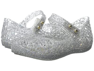 Mini Melissa Mini Campana Zig Zag VI (Toddler) (Mixed Silver Glitter) Girls Shoes