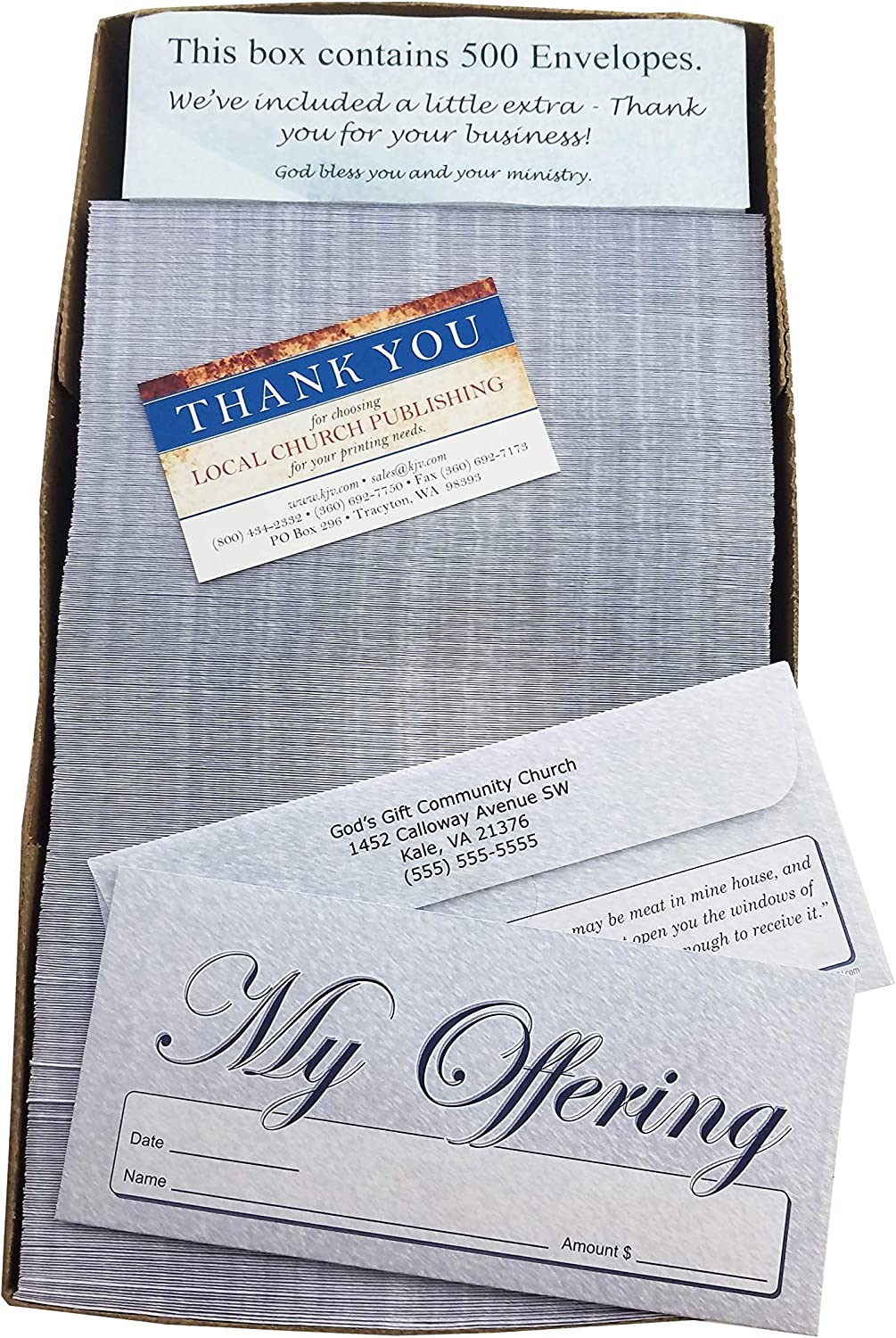Custom My Offering - Church Tithe Envelopes Max 51% OFF Easy Blue 2021new shipping free shipping Donation
