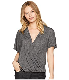Brooklyn Jersey Cross Over V-Neck Top