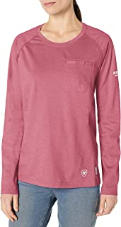ARIAT Women's Flame Resistant Fitted Air Crew Long SleeveWork Utility Tee Shirt
