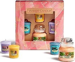 Yankee Candle Cadeauset   3 geurende votief kaarsen & 1 kleine potkaars   De laatste Paradise collectie   Ideaal voor Moed...