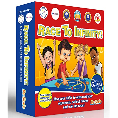 Maths Games for kids, KS2, KS1, KS3 - FUN Math Board Game with dice, for Children to increase Confidence – Perfect for Times Tables, Addition, Subtraction, Multiplication – Rules in 1 Language